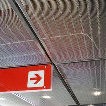 Falso techo de malla metálica / tipo panel / acústico / enrejado