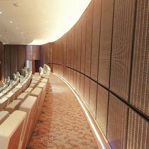 Panel decorativo de pared / de acero inoxidable / de malla metálica / texturado