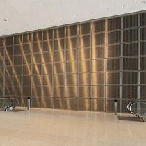 Panel decorativo de pared / de malla metálica / de acero inoxidable / aspecto metal