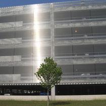 Revestimiento de fachada acero inoxidable / de malla de acero inoxidable / texturado / de rejilla