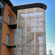 Revestimiento de fachada de malla metálica / de malla de acero inoxidable / texturado / de rejilla