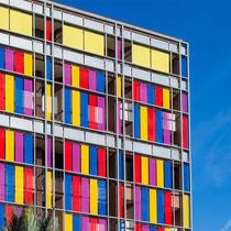 Revestimiento de fachada de metal / de acero inoxidable / de colores / de rejilla