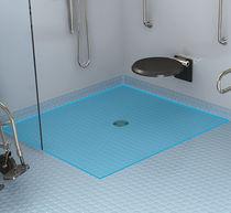 Plato de ducha cuadrado / de poliestireno expandido EPS / a ras de suelo / a medida
