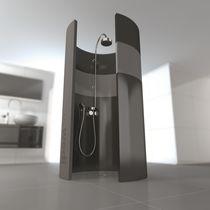 Plato de ducha redondo / de fibra de vidrio / de hormigón / de poliestireno