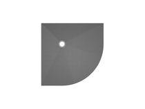 Plato de ducha de esquina / de fibra de vidrio / de hormigón / de poliestireno