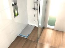Plato de ducha rectangular / de fibra de vidrio / de hormigón / de poliestireno