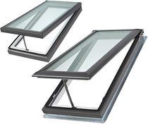 Tejado de proyección / de madera / de aluminio / con vidrio doble