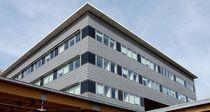 Revestimiento de fachada de metal / de zinc / ranurado / de panel