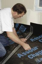 Capa de aislamiento acústico en rollo / de fibra de vidrio