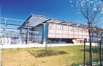 Plancha de tejado de resina / de policarbonato / con protección UV / translúcida