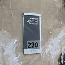 Placa de señalización para puerta / de pared / de PVC / en braille