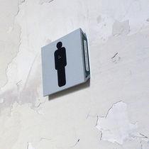 Placa de señalización para puerta / de pared / de PVC / de doble cara