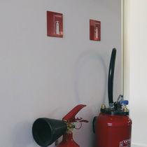 Letrero de seguridad de incendio