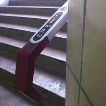Placa de señalización fija / de aluminio / para pasamano / en braille
