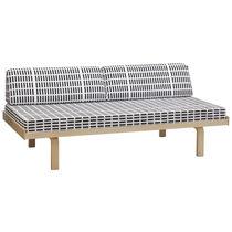 Banqueta moderna / de tejido / de madera / de Alvar Aalto