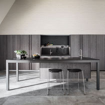 Cocina moderna / de madera / de piedra / de metal