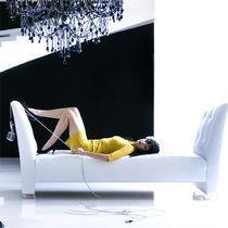 Banqueta moderna / de tela / de interior / blanca