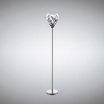 Lámpara de pie / moderna / de metal / de vidrio soplado