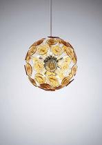 Lámpara suspendida / moderna / de metal / de vidrio soplado