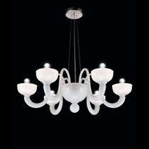 Lámpara araña clásica / de vidrio soplado / de cristal de Murano / de incandescencia