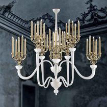 Lámpara araña moderna / de vidrio soplado / de cristal de Murano / de metal