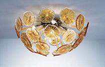 Plafón moderno / de vidrio soplado / de cristal de Murano / de metal