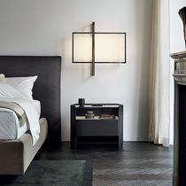 Mesa de noche / moderna / de mármol / de chapa de madera