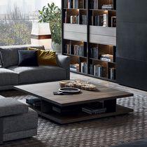 Mesa de centro / moderna / de chapa de madera / de aluminio