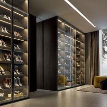 Mueble para zapatos moderno / cara de cristal / de Rodolfo Dordoni