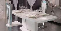 Mesa moderna / de vidrio lacado / blanca
