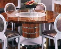Mesa de comedor clásica / de madera maciza / rectangular / redonda