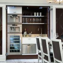 Cocina moderna / de madera / oculta