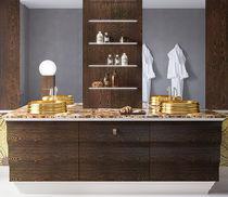 Mueble de lavabo doble / de pie / de mármol / moderno