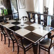 Mesa de comedor clásica / de madera lacada / rectangular