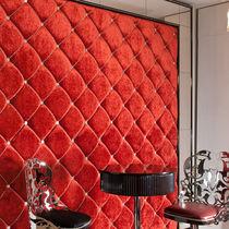 Panel decorativo de tela / de cuero / de pared / con relieve