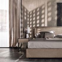 Mesilla de noche moderna / de madera / de hierro / rectangular