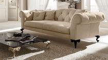 Sofá clásico / de tejido / de cuero / 3 plazas