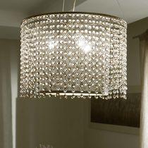 Lámpara araña clásica / de vidrio / de hierro / de incandescencia