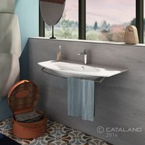Lavabo encastrable / de cerámica / moderno