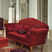 Sofá de estilo / de terciopelo / 2 plazas / rojo