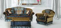 Sofá de estilo / de terciopelo / de seda / 2 plazas