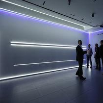 Perfil de iluminación empotrable / de pared / LED / sistema de iluminación modular