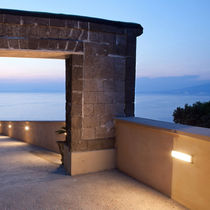 Luminaria empotrable de pared / LED / lineal / de exterior