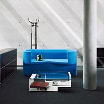 Sofá de diseño original / de tejido / de cuero / de acero
