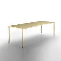 Mesa de reuniones moderna / de latón / rectangular / cuadrada