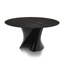 Mesa moderna / de mármol / de Cristalplant® / redonda