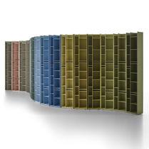 Biblioteca modular / moderna / profesional / de MDF lacado