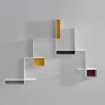 Estantería mural / modular / moderna / de chapa de acero