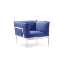 Sillón moderno / de tejido / con revestimiento removible / de Jean-Marie Massaud