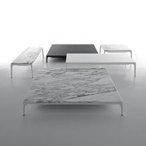 Mesa de centro moderna / de aluminio lacado / de resina / rectangular
